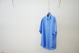 Graphpaper(グラフペーパー)Broad S/S Oversized Regular Collar Shirt/Blue