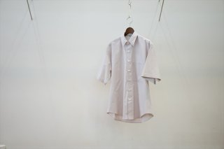 AURALEE(オーラリー)Washed Finx Twill Half Sleeved Big Shirts/Light Purple