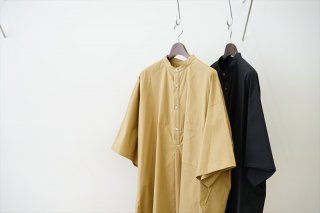 Graphpaper(グラフペーパー)Stretch Typewriter S/S Yoke Sleeve Shirt/Beige/Black/