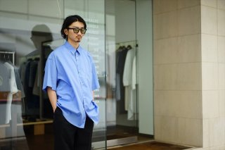 Graphpaper(グラフペーパー)Broad S/S Oversized Regular Collar Shirt/White/Beige/Blue/