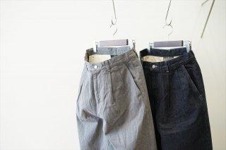 Graphpaper(グラフペーパー)Colorfast Denim Two Tuck Pants/Gray/Indigo