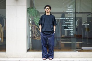 AURALEE(オーラリー)Hard Twist Denim Wide Slacks/White×Ivory/Indigo/