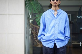 Graphpaper(グラフペーパー)Broad L/S Oversized Band Coller Shirt/White/Beige/Blue/Navy/Black/