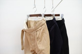 Graphpaper(グラフペーパー)Hard Twill Belted Pants/Beige/Navy/Black