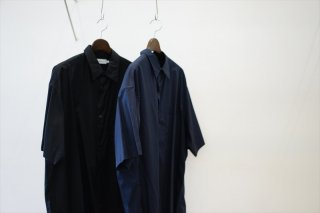 Graphpaper(グラフペーパー)Broad S/S Oversized Regular Collar Shirt/Navy/Black/