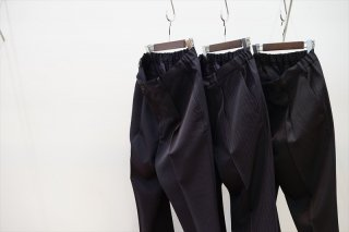 Graphpaper(グラフペーパー)Selvage Wool Tapered Slacks/Navy/Navy ST/Black