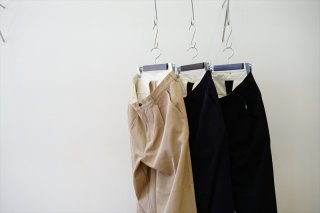 Graphpaper(グラフペーパー)Hard Twill Two Tuck Pants/Beige/Navy/Black/