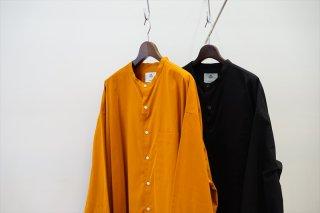 Graphpaper(グラフペーパー)Thomas Mason for GP Oversized Band Collar Shirt/Brown/Black/