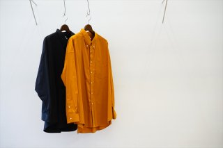 Graphpaper(グラフペーパー)Thomas Mason for GP Oversized B.D Shirt/Brown/Black/