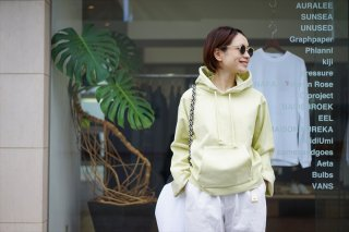 AURALEE for women(オーラリー)SUPER MILLED SWEAT CUT-OFF P/O PARKA