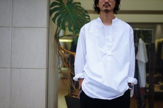 Graphpaper(グラフペーパー)Broad Band Collar Shirt/White/Navy/Black/