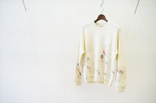 AURALEE for women(オーラリー)WHITE BABY CASHMERE HAND PAINTED KNIT P/O