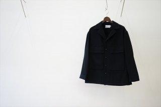 Graphpaper(グラフペーパー)Wool Kersey Fatigue Shirt/Black