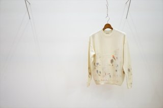 AURALEE(オーラリー)White Baby Cashmere Hand Painted Knit P/O /White