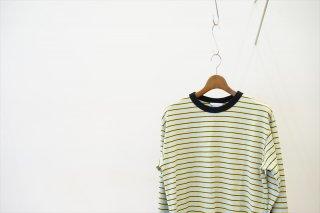 UNUSED(アンユーズド)Long Sleeve T-Shirt/Sax×Yellow×Black
