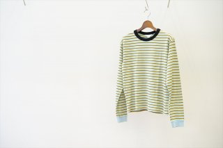 UNUSED for women(アンユーズド) Long Sleeve T-Shirt/Sax×Yellow×Black