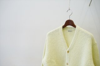 AURALEE(オーラリー)Alpaca Wool Super Light Knit Big Cardigan/Light Yellow