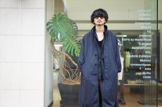 UNUSED(アンユーズド)Nylon Coat/Black