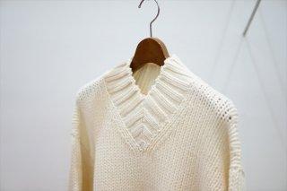 AURALEE(オーラリー)Super Fine Wool Airy Knit/White