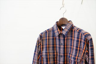 UNUSED for women (アンユーズド )Check Shirt/Navy Check