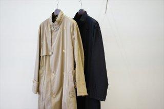 AURALEE(オーラリー)Washed Finx Cupro Twill Long Coat/Khaki Chambray/Black Chambray/