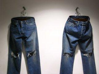 UNUSED 13oz denim five pockets two hole knees pants (Short) for Men's&Lady's
