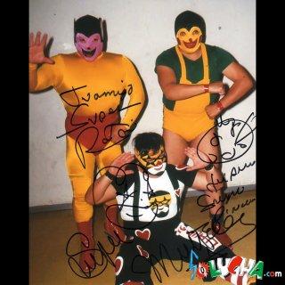 Super Raton&Pinocho&Super Muneco Autographed Photo Autographed Photo / トリオ・ファンタシア サイン入ブロマイド