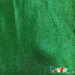 エラスラメ生地(コリアンラメ・緑) 1m / Stretch Lame Green 1m