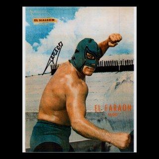 El Faraon Autographed Photo / エル・ファラオン サイン入ブロマイド