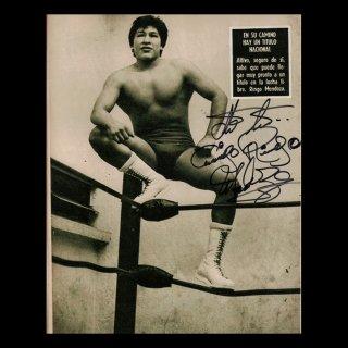 Ringo Mendoza Autographed Photo  / リンゴ・メンドーサ サイン入ブロマイド