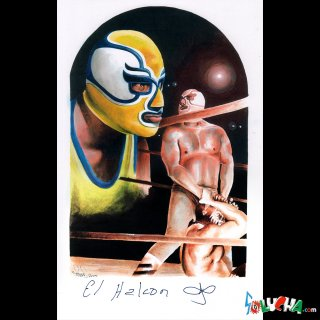 エル・アルコン / EL Halcon サイン入りアートピクチャー42X27cm