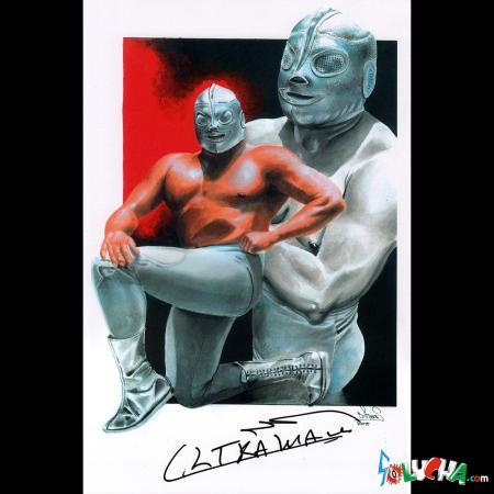 ウルトラマン / Ultramanサイン入りアートピクチャー 42X27cm
