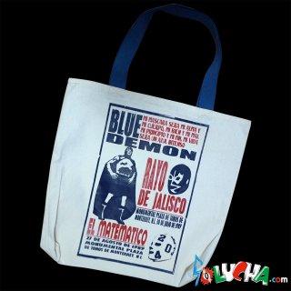 プリントトートバッグ #ブルー・デモン&ラヨ・デ・ハリスコ&エル・マテマティコ / Print Tote bag