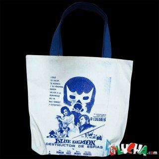プリントトートバッグ #ブルー・デモン / Print Tote bag Blue Demon