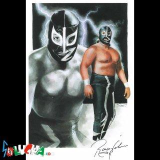 ラヨ・デ・ハリスコ Jr. / Rayo de Jalisco Jr. サイン入りアートピクチャー42X27cm