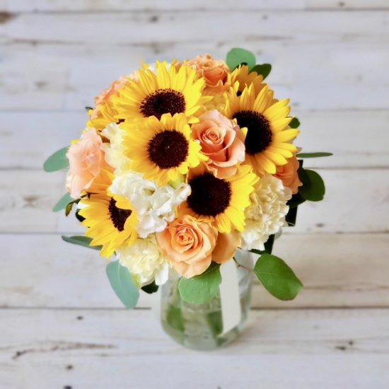 クラッチブーケ「Sunflower&Rose」