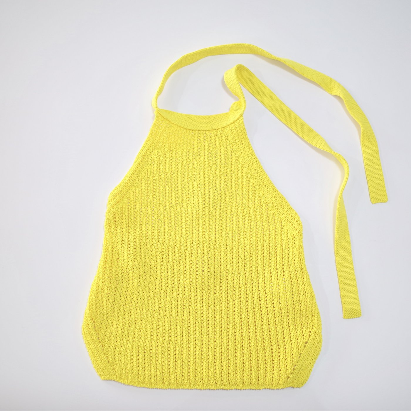 babaco 2018SS -loose knitted halter neck top/yellow-women's