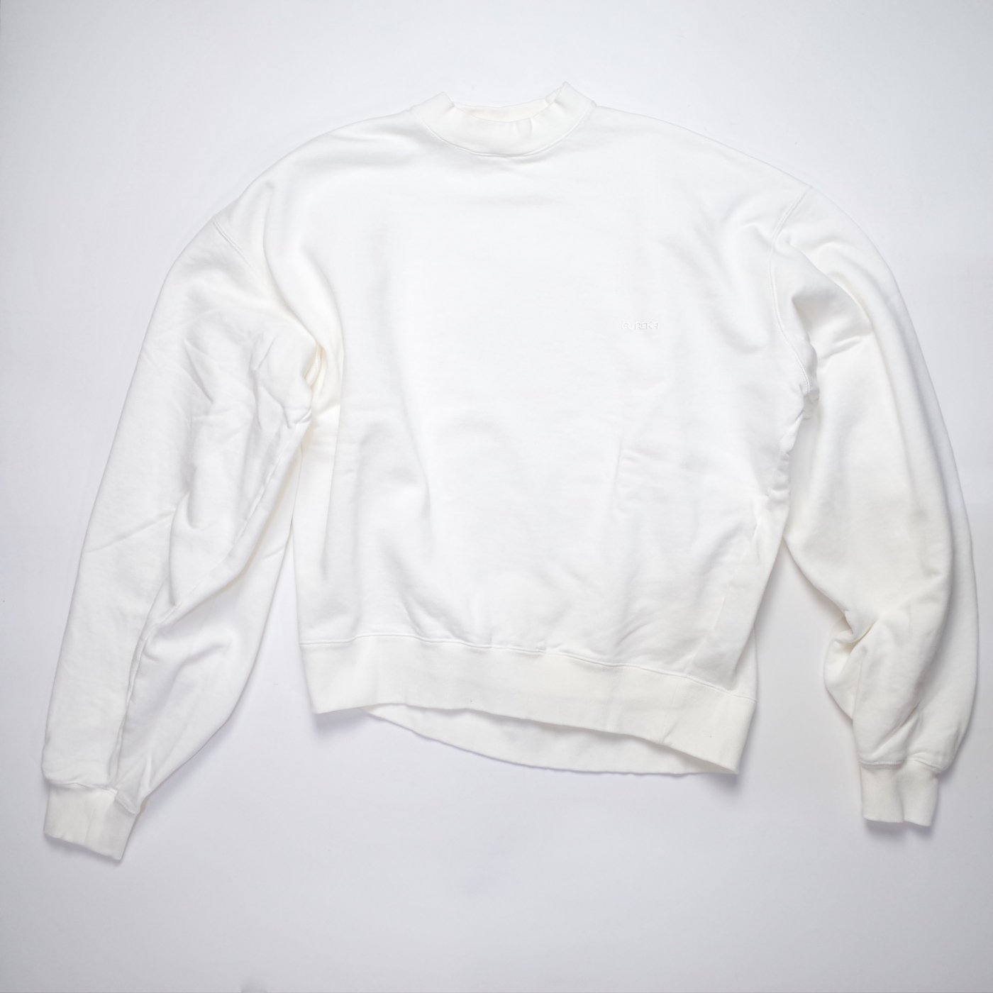 MAISON EUREKA 2018AW-SLACK SWEAT SHIRT/WHITE-women's