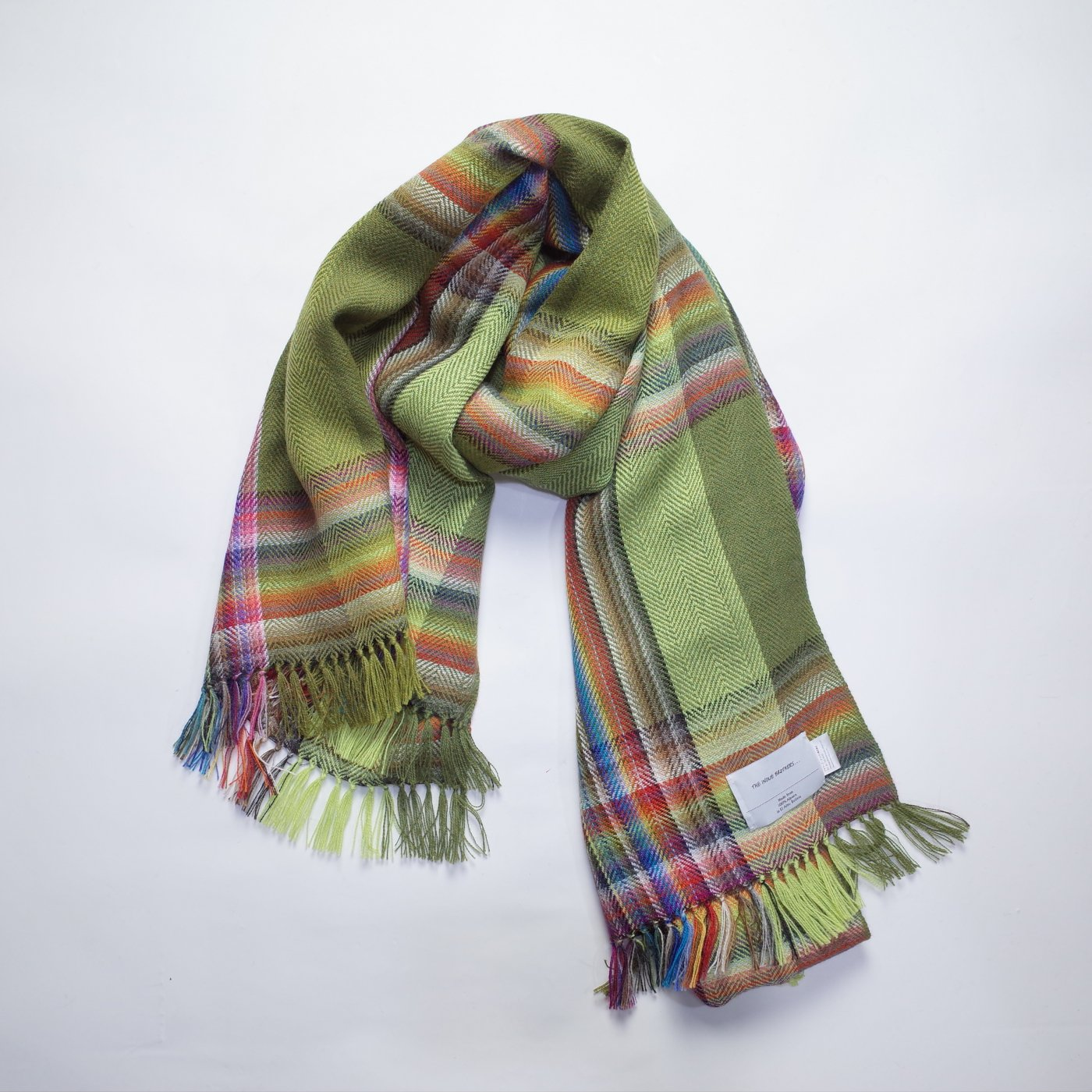 THE INOUE BROTHERS...-Bolivian hand loomed stole/GREEN-unisex