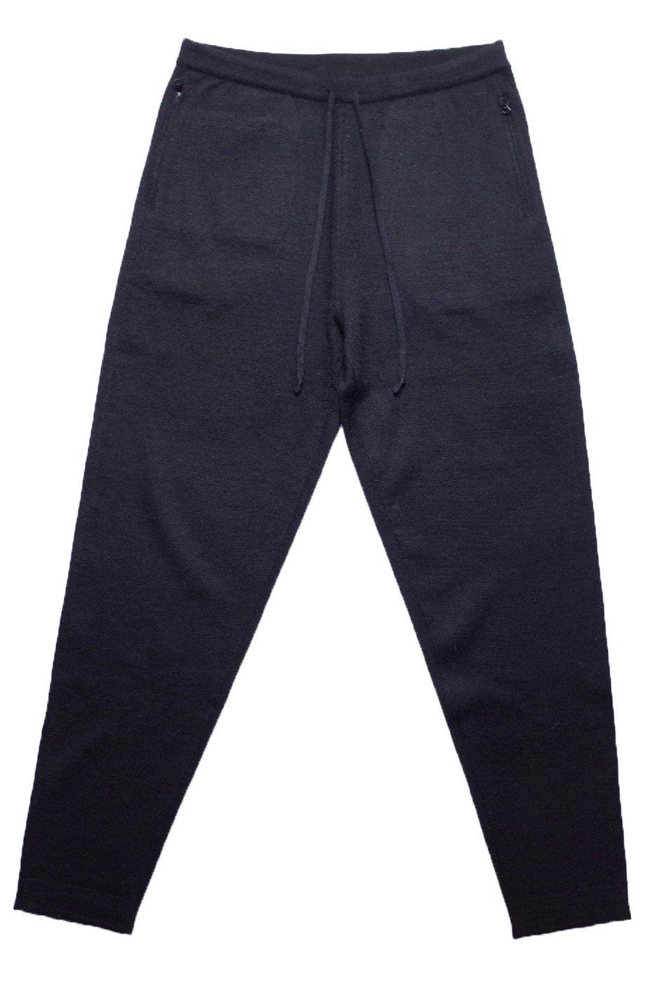 THE INOUE BROTHERS...ザ イノウエブラザーズ-High Gauge Knit Trousers/BLACK-men's