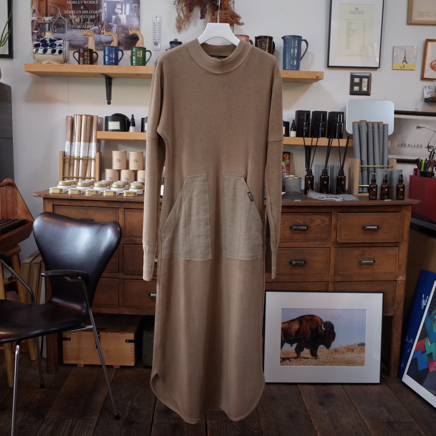 PHOTOCOPIEU 2019AW -LONG JERSEY DRESS / BROWN-