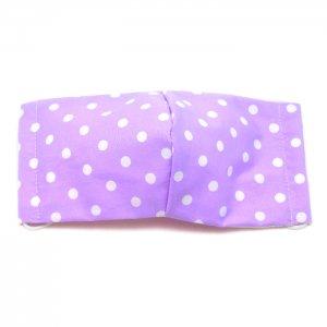 洗える布マスク・薄紫ドット