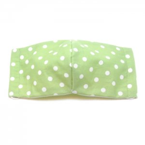 洗える布マスク・緑ドット