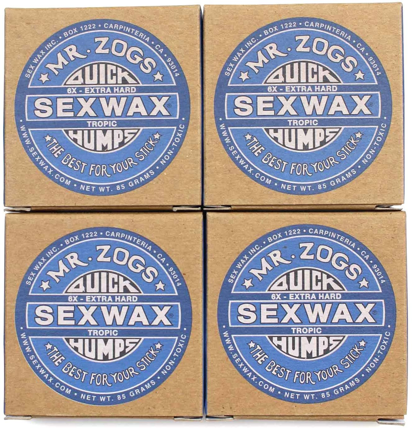 SEX WAX セックスワックス サーフィン ワックス Quick Humps 4個セット(Blue/TROPIC or BaseCoat))