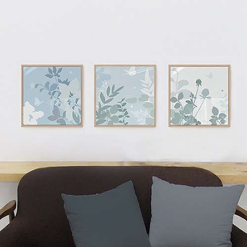 【アルミアートフレーム】蝶の花園 277×277mm