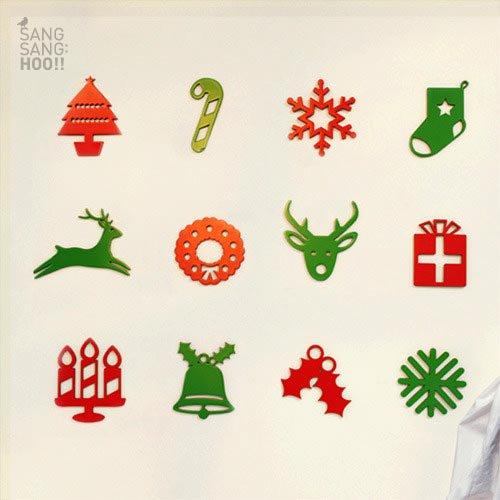 【ウッドステッカー】クリスマスのアイコン1