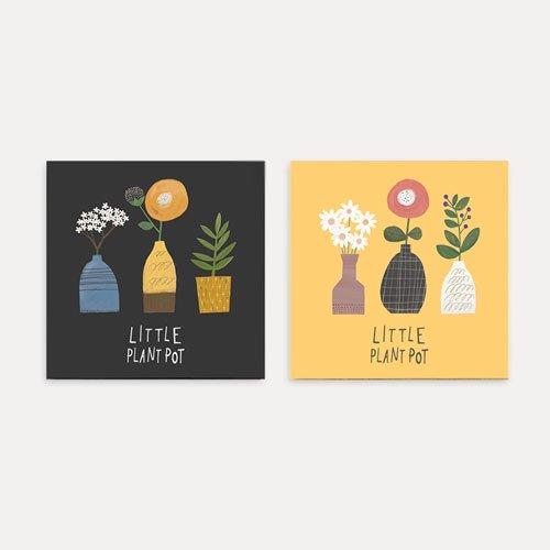 【ファブリックパネル】小さな花瓶30X30