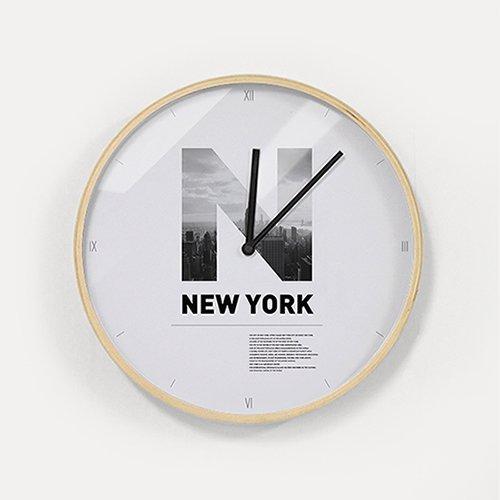 【壁掛け時計】ニューヨークシティー
