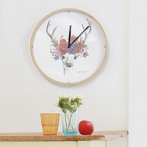 【壁掛け時計】フラワーディアA
