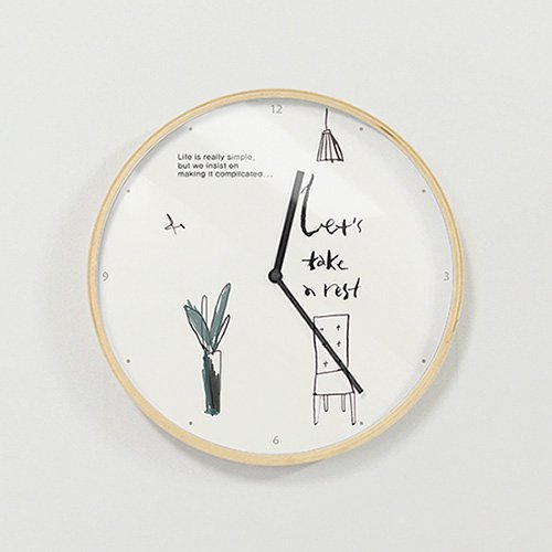 【壁掛け時計】休息